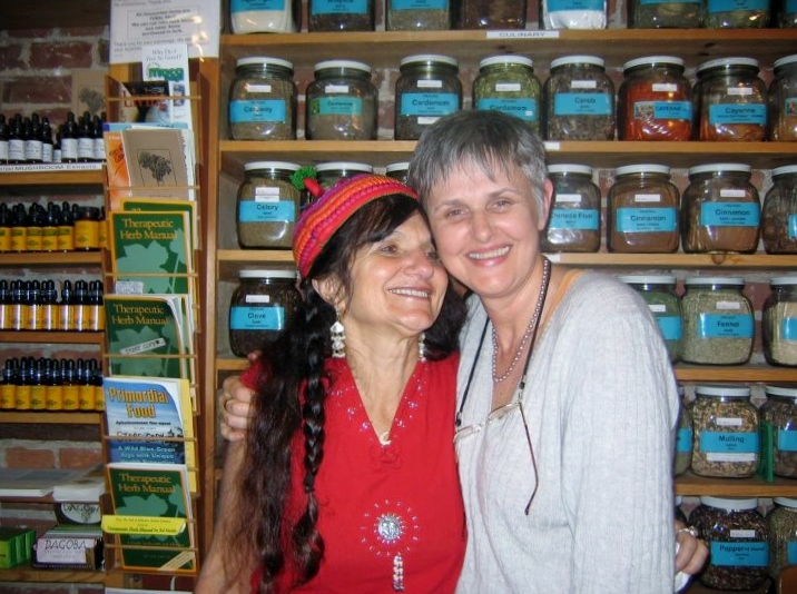 Rosemary Gladstar and current owner of Rosemary's Garden, Lena Moffat Wilson